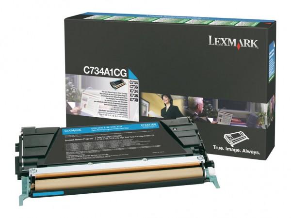 Lexmark Toner C734A1CG cyan 6.000 Seiten 1 Stück