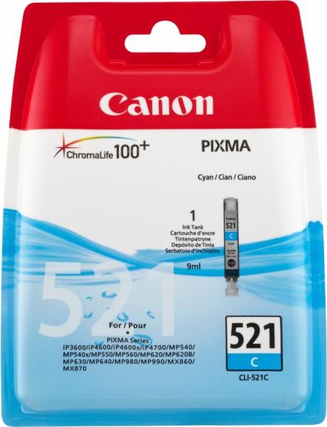 Canon Tinte 2934B001 CLI-521 C Cyan 448 Seiten 9 ml 1 Stück