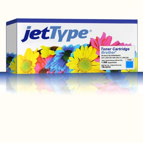 jetType Toner kompatibel zu Brother TN-321C cyan 1.500 Seiten