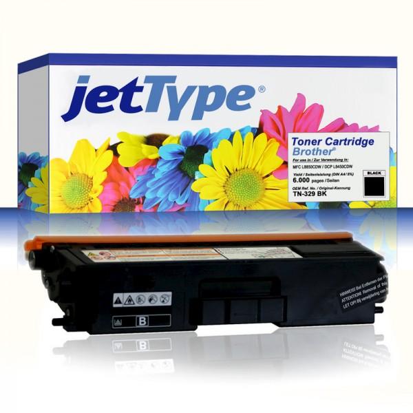 jetType Toner kompatibel zu Brother TN-329BK schwarz 6.000 Seiten
