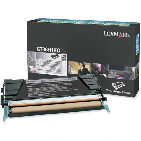 Lexmark Toner C736H1KG schwarz 12.000 Seiten 1 Stück