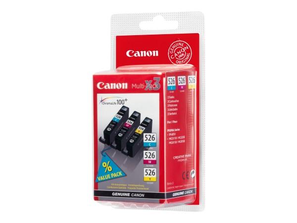 Canon Tinte Multipack 4541B006 CLI-526 C/M/Y 450 Seiten 9 ml 3 Stück