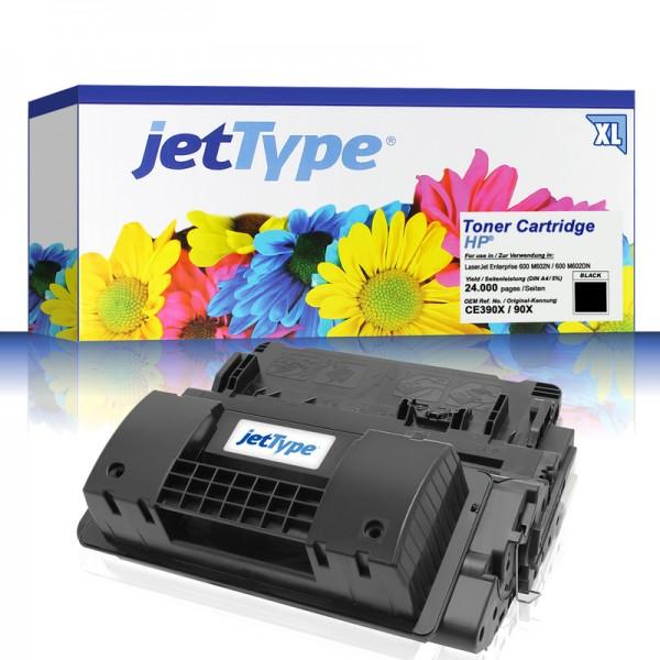 jetType Toner kompatibel zu HP CE390X 90X schwarz 24.000 Seiten Große Füllmenge 1 Stück