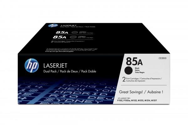 HP Toner Doppelpack CE285AD 85A schwarz 2x 1.600 Seiten 2 Stück