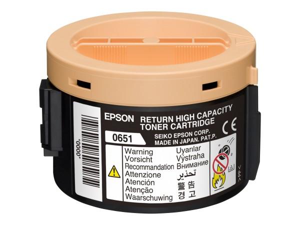 Epson Toner C13S050651 0651 schwarz 2.000 Seiten return program 1 Stück