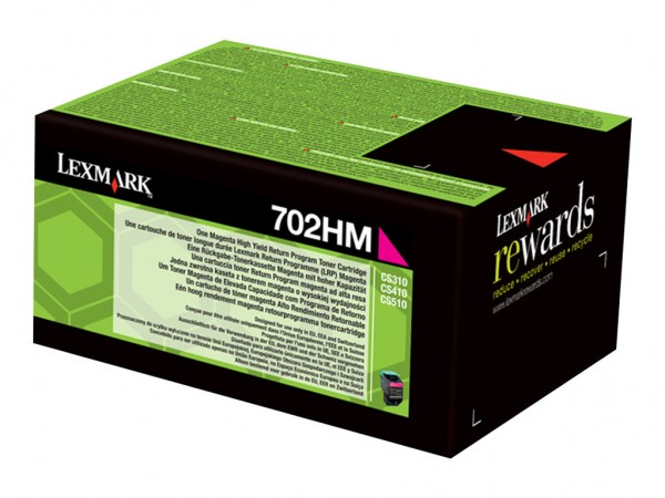 Lexmark Toner 70C2HM0 702HM Magenta 3.000 Seiten 1 Stück