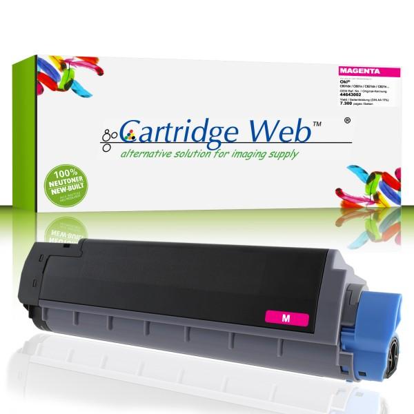 CartridgeWeb Toner kompatibel zu Oki 44643002 magenta 7.300 Seiten