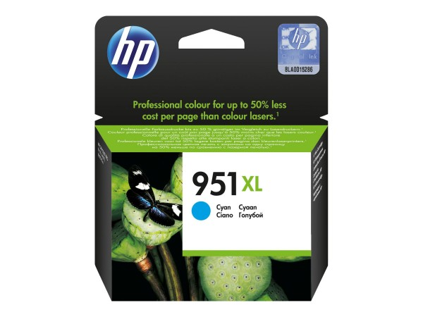 HP Tinte CN046AE 951XL cyan 1.500 Seiten 17 ml Große Füllmenge 1 Stück