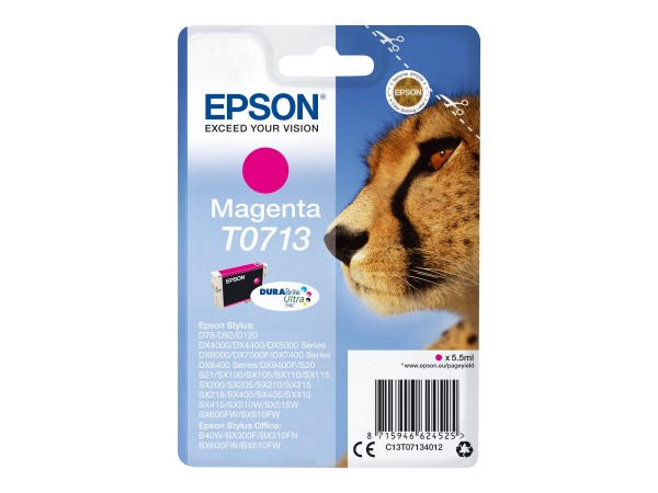 Epson Tinte C13T07134012 T0713 Magenta 5,5 ml 1 Stück