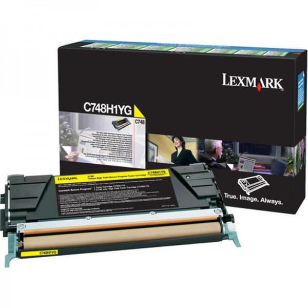 Lexmark Toner C748H1YG gelb 10.000 Seiten Große Füllmenge 1 Stück