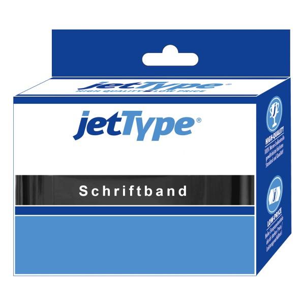 jetType Schriftband kompatibel zu Brother TZE-431 12 mm 8 m schwarz auf rot laminiert