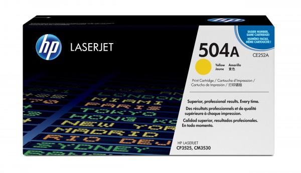 HP Toner CE252A 504A gelb 7.000 Seiten 1 Stück