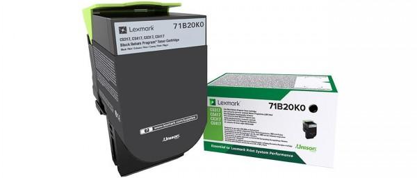 Lexmark Toner 71B20K0 X317 Schwarz 3.000 Seiten