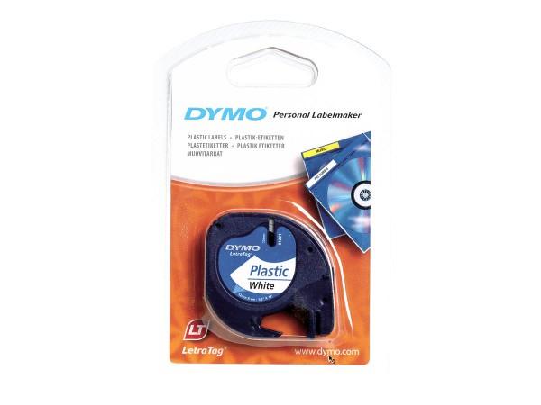 Dymo Plastikband 91221 S0721660 12 mm 4 m weiß Polyester