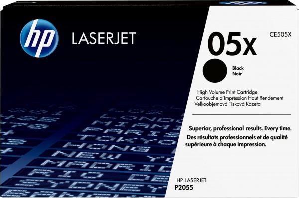 HP Toner CE505X 05X schwarz 6.500 Seiten Große Füllmenge 1 Stück