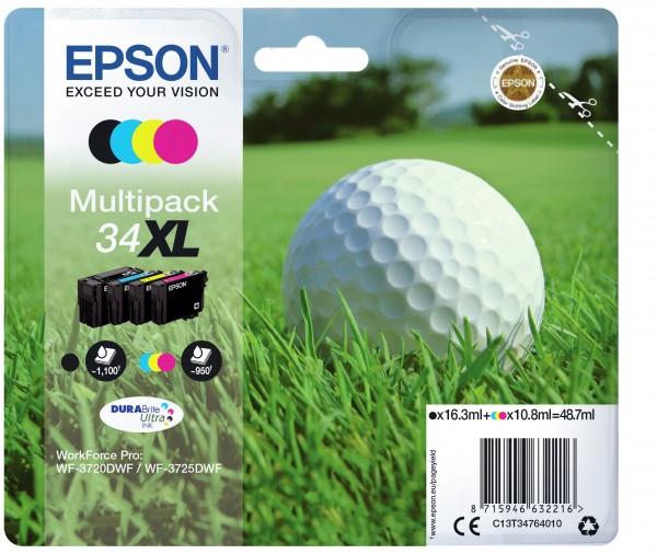 Epson Tinte Multipack C13T34764010 34XL BK/C/M/Y BK = 1.100 Seiten / CMY = je 950 Seiten BK = 16,3