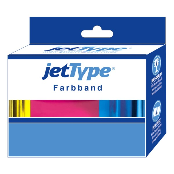jetType Farbband kompatibel zu Oki 09002309 Nylon schwarz 2 Mio Zeichen 8mm x 1,8m