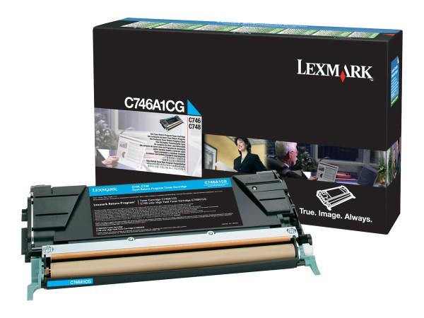 Lexmark Toner C746A1CG cyan 7.000 Seiten return program 1 Stück