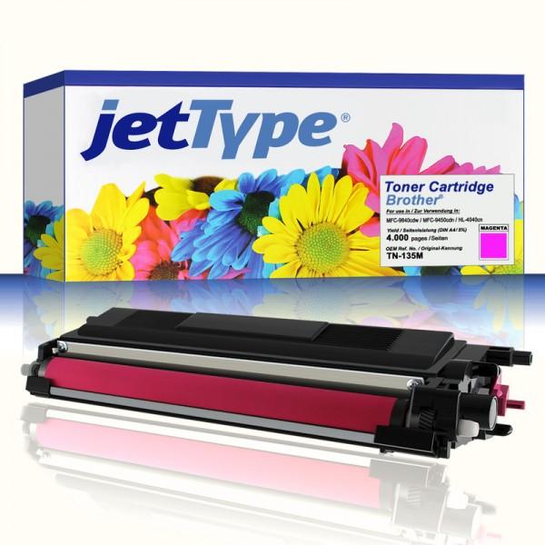 jetType Toner kompatibel zu Brother TN-135M magenta 4.000 Seiten 1 Stück