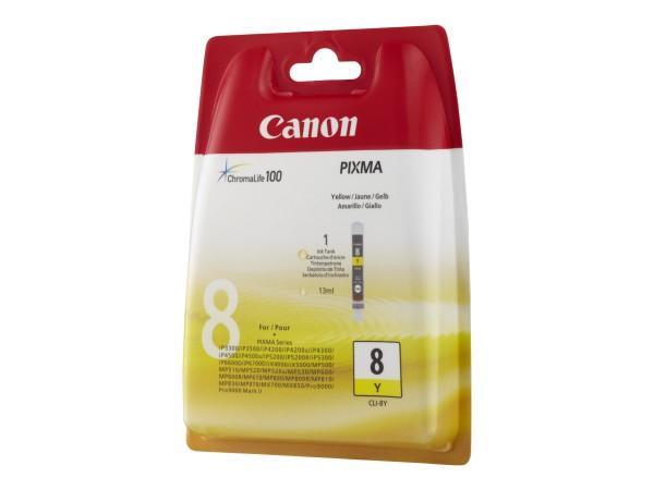 Canon Tinte 0623B001 CLI-8 Y Gelb 530 Seiten 13 ml 1 Stück
