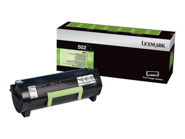 Lexmark Toner 50F2000 502 Schwarz 1.500 Seiten 1 Stück