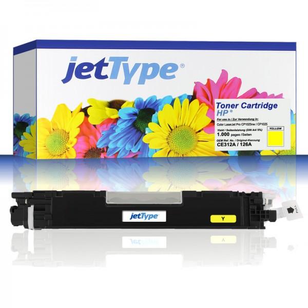 jetType Toner kompatibel zu HP CE312A 126A gelb 1.000 Seiten 1 Stück