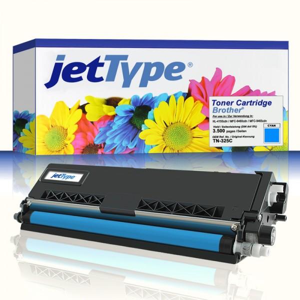 jetType Toner kompatibel zu Brother TN-325C cyan 3.500 Seiten 1 Stück