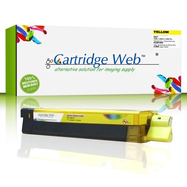CartridgeWeb Toner kompatibel zu Oki 43381905 gelb 2.000 Seiten