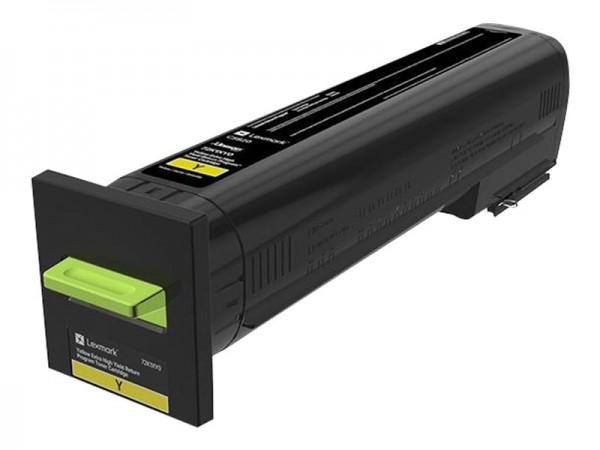 Lexmark Toner 72K2XY0 Gelb 22.000 Seiten 1 Stück