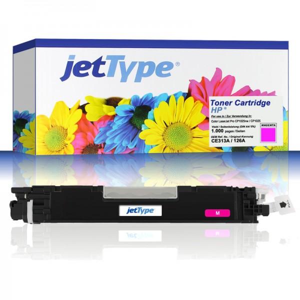 jetType Toner kompatibel zu HP CE313A 126A magenta 1.000 Seiten 1 Stück