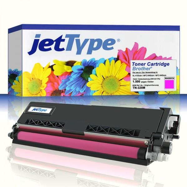 jetType Toner kompatibel zu Brother TN-320M magenta 1.500 Seiten