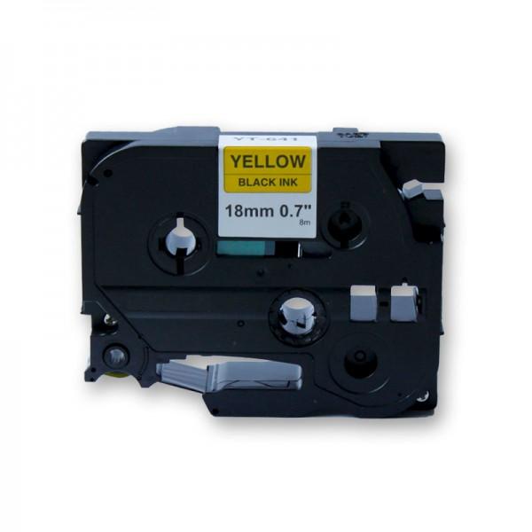 jetType Schriftband kompatibel zu Brother TZE-641 18 mm 8 m schwarz gelb