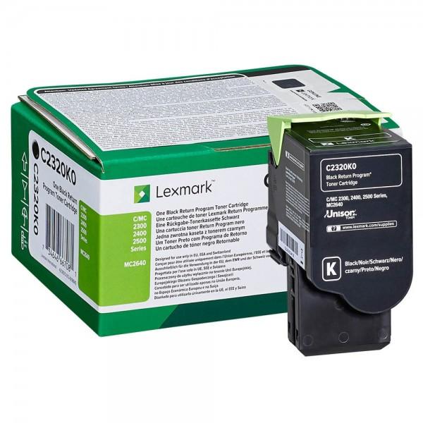 Lexmark Toner C2320K0 Schwarz 1.000 Seiten 1 Stück
