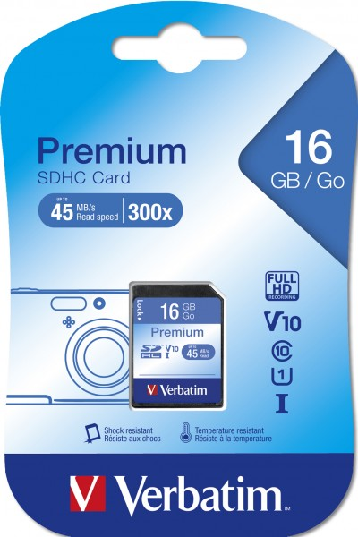 Verbatim SD (Secure Digital) 16GB 43962 SDHC Class 10