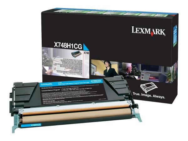 Lexmark Toner X748H1CG cyan 10.000 Seiten 1 Stück