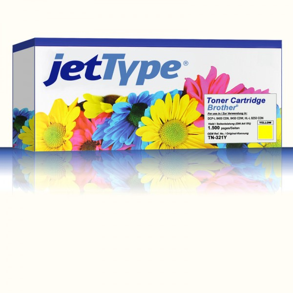 jetType Toner kompatibel zu Brother TN-321Y gelb 1.500 Seiten 1 Stück