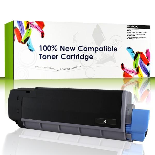 CartridgeWeb Toner kompatibel zu Oki 43865708 schwarz 8.000 Seiten