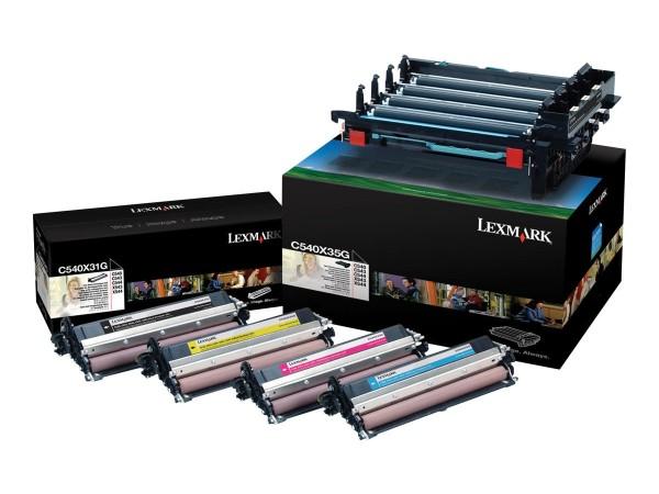 Lexmark Trommel-Kit C540X74G BK/C/M/Y 30.000 Seiten 4 Stück