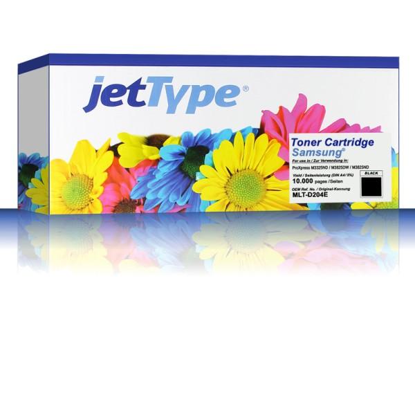 jetType Toner kompatibel zu Samsung MLT-D204E/ELS schwarz 10.000 Seiten
