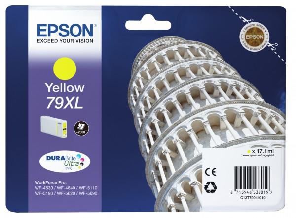 Epson Tinte C13T79044010 79XL Gelb 2.000 Seiten 17,1 ml DURABrite Ultra Große Füllmenge 1 Stück