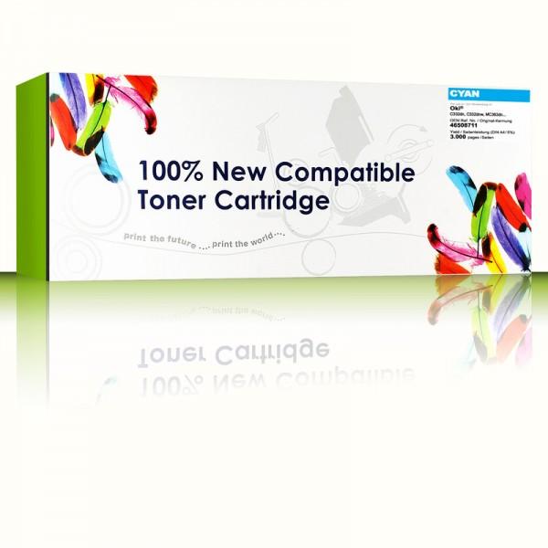 CartridgeWeb Toner kompatibel zu Oki 46508711 Cyan 3.000 Seiten 1 Stück