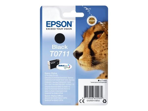 Epson Tinte C13T07114012 T0711 Schwarz 7 ml 1 Stück
