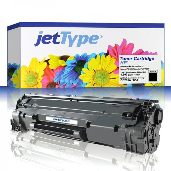 jetType Toner kompatibel zu HP CE285A 85A schwarz 1.600 Seiten 1 Stück
