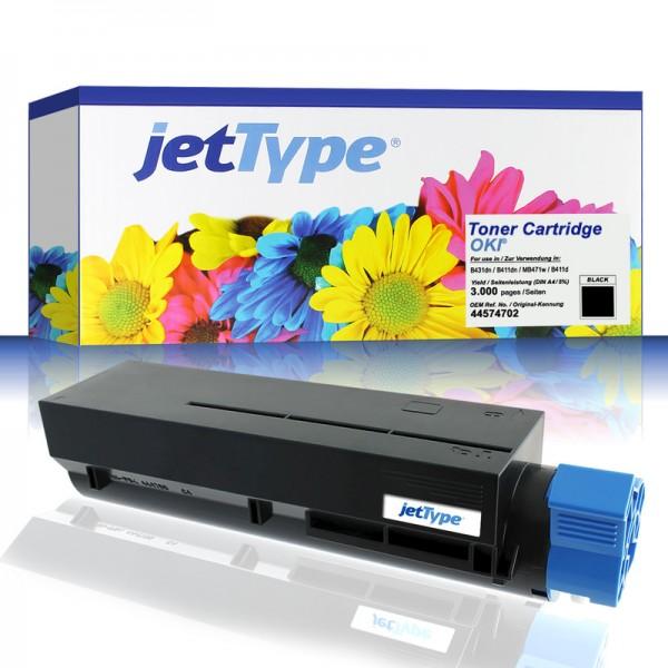 jetType Toner kompatibel zu Oki 44574702 schwarz 3.000 Seiten