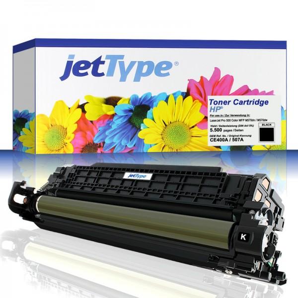 jetType Toner kompatibel zu HP CE400A 507A schwarz 5.500 Seiten 1 Stück