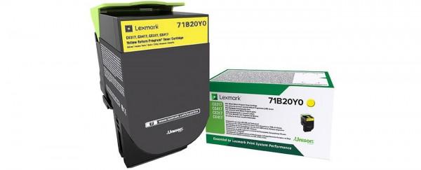 Lexmark Toner 71B20Y0 X317 Gelb 2.300 Seiten 1 Stück